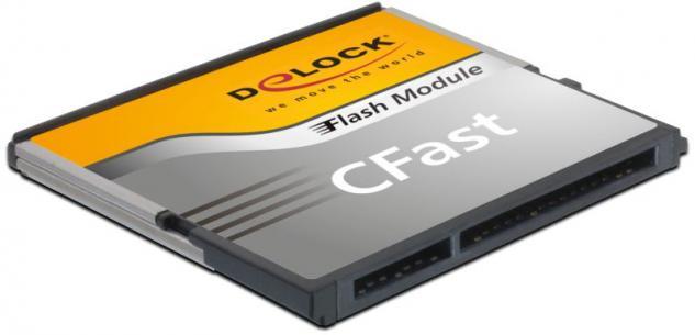 Speicherkarte CFast-Card SATA 6 Gb/s WT 8GB MLC -40____deg; C ~ +85____deg; C, Delock® [54699]