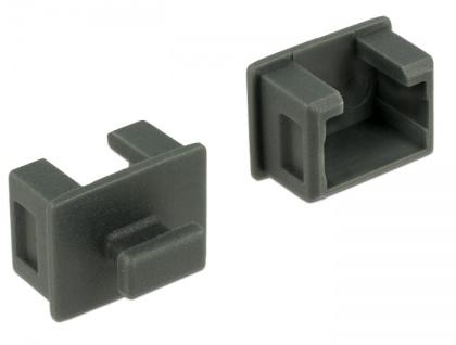 Staubschutz für Fire Wire 1394A 6 Pin Buchse, mit Griff, 10 Stück, grau, Delock® [64032]