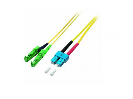 kabelmeister® Patchkabel LWL Duplex OS2 (Singlemode, 9/125) E2000®-APC/SC, 1m