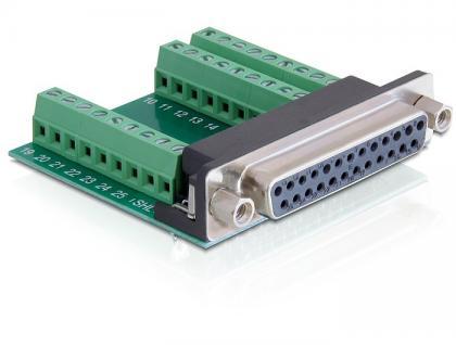 Adapter Terminalblock an Sub-D 25Pin Buchse, Delock® [65317]