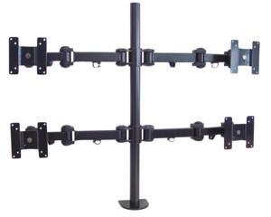Bildschirm- und TV-Tischhalter für 4 Bildschirme, bis 19', bis 48 cm Bildschirmdiagonale, bis zu 6 kg, zwei Ebenen, My Wall®