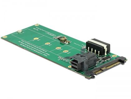 Konverter U.2 SFF-8639 / SFF-8643 NVMe an 1x M.2 Key M, Delock® [62945]