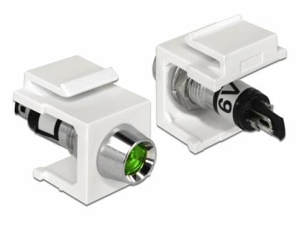 Keystone LED grün 6 V, weiß, Delock® [86448]