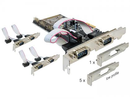 PCI Express Karte an 6 x Seriell, Delock® [89347]