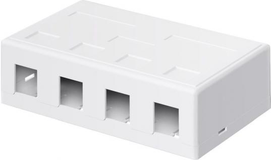 KeyStone Leergehäuse 4-port, Snap-In Montage, weiß