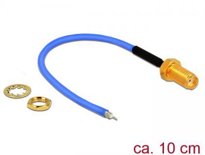 Antennenkabel SMA Buchse zum Einbau an offenes verzinntes Kabelende (RG-405 semi flexible) low loss, 0, 1m, Delock® [89523]