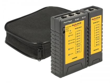 Kabeltester RJ45 / RJ12 + Portfinder, Delock® [86407]