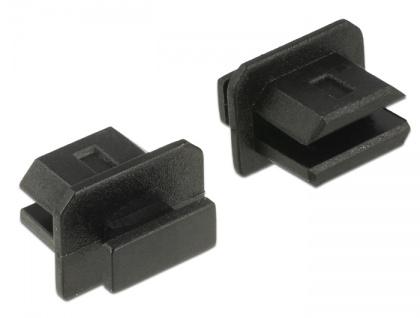 Staubschutz für mini Displayport Buchse, mit Griff, 10 Stück, schwarz, Delock® [64026]