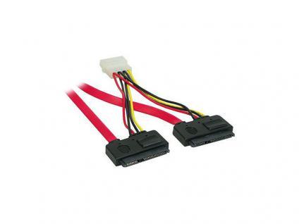 kabelmeister® S-ATA & S-ATA II All-In-One Anschlusskabel inkl. Strom für 2 Geräte