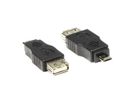 Adapter USB-OTG (On-the-go), Micro-B Stecker auf A-Buchse 2.0, Good Connections®
