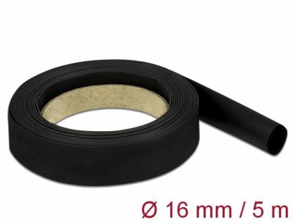 Schrumpfschlauch 5 m x 16 mm schwarz, Delock® [18940]