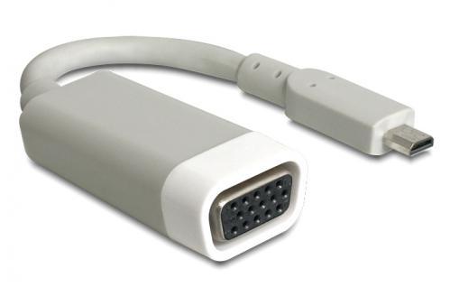 Adapter HDMI-micro D Stecker an VGA Buchse, Delock® [65470]