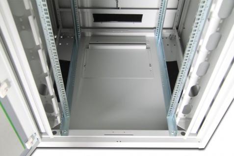 Netzwerkschrank 42HE 2053x800x800mm, RAL 7035, Glastür, grau, Digitus® [DN-19 42U-8/8-1]