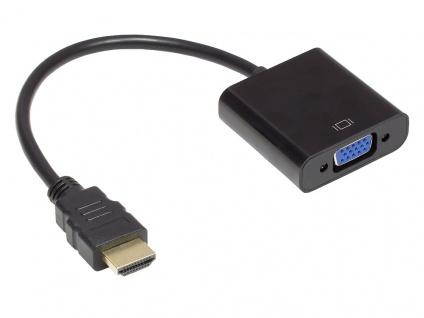 Adapter HDMI zu VGA, HDMI Stecker an VGA Buchse, 3, 5 mm Stereo-Buchse, USB Mi...