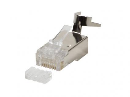 Modular Stecker Cat.6A RJ45 für Cat.7, Cat.6A und Cat.6 Kabel, 10 Stück, geschirmt, LogiLink® [MP0030]