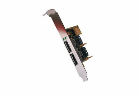 Adapter von Intern zu Extern Combo Stecker USB 2.0+eSATA 2, Exsys® [EX-11069]