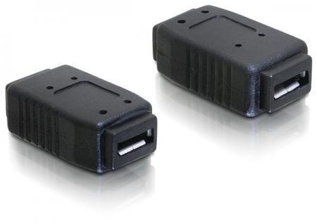 kabelmeister® Adapter USB micro-A+B Buchse zu USB micro-A+B Buchse