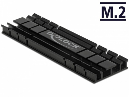 Kühlkörper flach 70 mm für M.2 Modul schwarz, Delock® [18285]