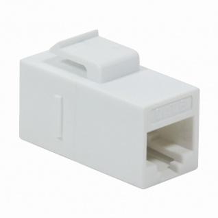 Keystone Verbinder RJ45 Cat.6 ungeschirmt mit Einrastung, weiß , LogiLink® [NK4012W]