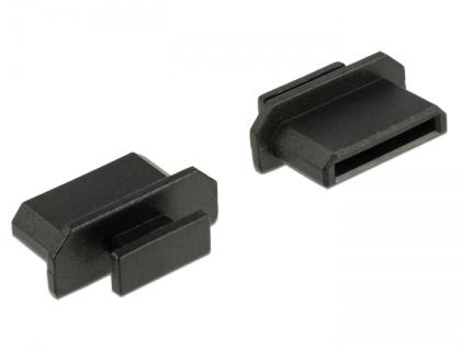 Staubschutz für HDMI mini-C Buchse, mit Griff, 10 Stück, schwarz, Delock® [64027]