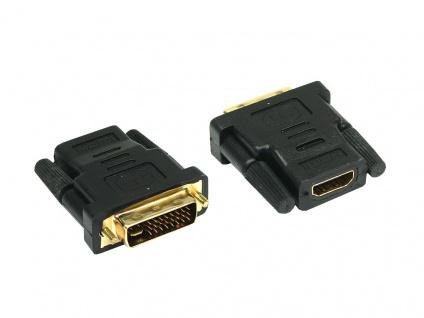 Adapter HDMI 19pol Buchse an DVI-D 24+1 Stecker, Good Connections®