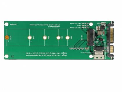 U.2 SFF-8654 oder SATA Konverter zu 1 x M.2 Key M Slot, Delock® [63953]