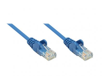 kabelmeister® Patchkabel, Cat. 5e, U/UTP, blau, 0, 25m