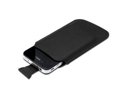 Digitus® Ledertasche für das iPhone 4 und die iPod Touch-Serie, schwarz [DA-14005]