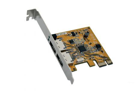 Schnittstellenkarte, PCI Express RAID 0/1 Controller für 2HDD, eSATA 3 , Exsys® [EX-3512]