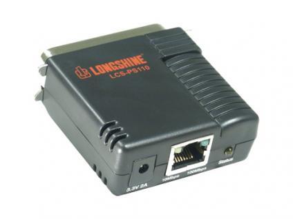 Longshine® LCS-PS110, Ethernet Mini 1 Port Parallel Printserver - Vorschau