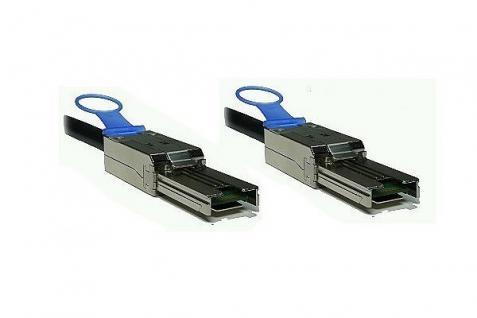 kabelmeister® SAS Kabel SFF-8088 auf SFF-8088 Amphenol, ext. mini SAS auf ext. mini SAS, AWG 26, 5m