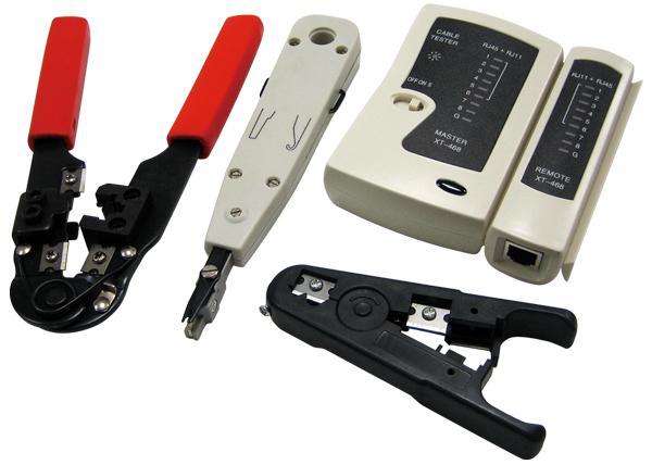 LogiLink® Netzwerk Werkzeug Set mit Tasche [WZ0012]
