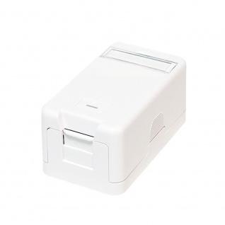 Keystone Aufputzdose 1-Port UTP, weiß , LogiLink® [NK4022]