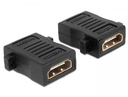Adapter HDMI Buchse A an Buchse mit Schraubanschluss, Delock® [65509] - Vorschau