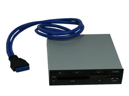 3, 5'' Multi-Frontpanel mit USB 3.0 AllinOne Card Reader