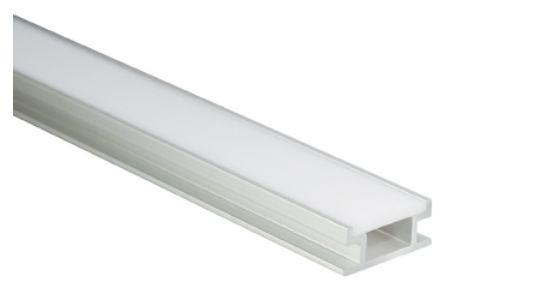 Al-Profil für LED-Leisten, 19, 2 x 8, 5mm, 1m