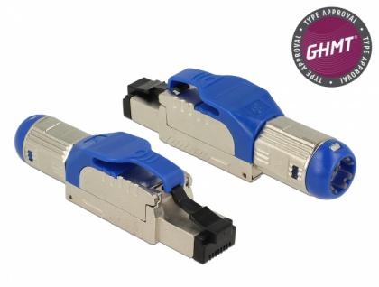 RJ45 Stecker feldkonfektionierbar Cat.8 Metall, Delock® [86487]