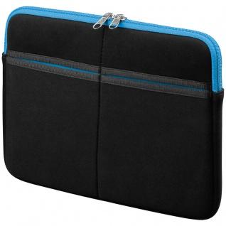 Textilgewebe-Tasche 10' für Apple iPad, Samsung Galaxy Tab, schwarz/blau