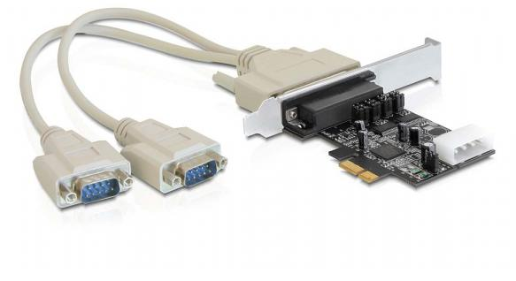 Schnittstellenkarte PCI Express an 2 x Seriell mit Power Management, Delock® [89305]