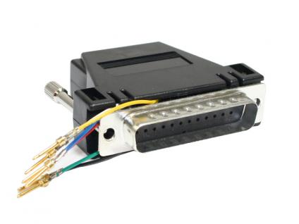 kabelmeister® MODULAR-ADAPTER D-25/Stecker an 6p6c