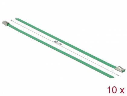 Edelstahlkabelbinder L 200 x B 4, 6 mm grün 10 Stück, Delock® [18801]