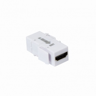 Keystone Modular Verbinder HDMI Buchse an HDMI Buchse, mit Repeater, weiß, LogiLink® [NK0014R]