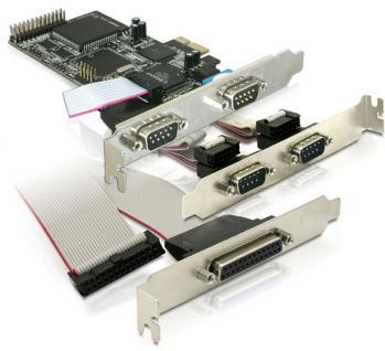 PCI Express Karte 4 x Seriell, 1x Parallel, Delock® [89177]