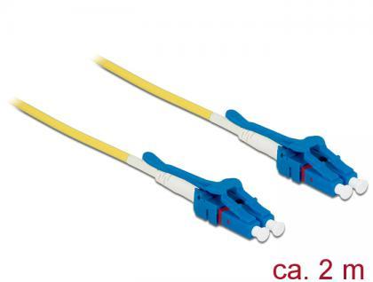 Kabel Lichtwellenleiter LC an LC Singlemode OS2, Uniboot, 2m, Delock® [85084]