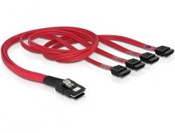 Kabel, mini SAS 36 Pin zu 4 x SATA (SFF 8087 zu 4 x SATA) 0, 5m, Delock® [83057]