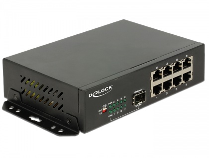 Gigabit Ethernet Switch 8 Port + 1 SFP, Delock® [87708]