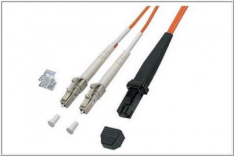 kabelmeister® Patchkabel LWL Duplex OM1 (Multimode, 62, 5/125) LC/MT-RJ, 15m