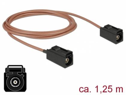 Antennenkabel FAKRA A Buchse an FAKRA A Buchse RG-316, 1, 25m, Delock® [89679]