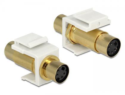 Keystone Modul Mini-DIN 4 Pin Buchse an Buchse vergoldet, Delock® [86338]