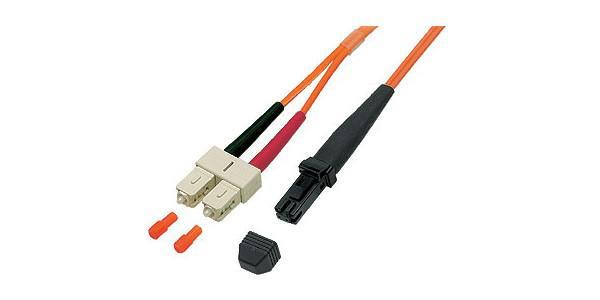 kabelmeister® Patchkabel LWL Duplex OM2 (Multimode, 50/125) MT-RJ / SC, 1m